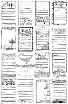 Scrapbooking TammyTags -- TT - Designer - Allison Kimball Design, TT - Item - Journal Card, TT - Theme - Autumn or Thanksgiving by lucy Smash Book, Journal Pages, Junk Journal, Small Journal, Life Journal, Journal Layout, Vintage Printable, Printable Planner, Free Printables