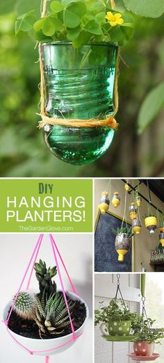 DIY Hanging Planters • Ideas, Tutorials & creative Projects!