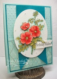 Vicki Burdick: It's a Stamp Thing: Splitcoast Color Challenge.....Birthday Wishes - 7/29/14