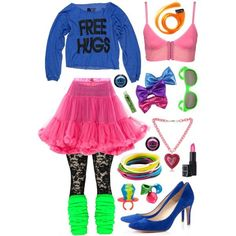 80's Flashback fashion colorful vintage outfit eighties 80's new wave