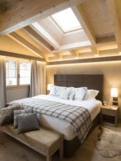 All the bedroom design ideas you'll ever require. Find your style as well as produce your dream bedroom scheme whatever your budget plan, design or room dimension. Attic Master Bedroom, Attic Bedroom Designs, Attic Rooms, Dream Bedroom, Luxury Bedroom Furniture, Modern Bedroom, Bedroom Decor, Bedroom Ideas, Attic Renovation