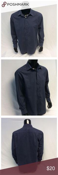 "APT 9 MENS PIN STRIPE LONG SLEEVE SHIRT APT 9 MENS PIN STRIPE LONG SLEEVE SHIRT, Size L, 100% cotton, machine wash. Approximate measurements are 30"" shoulder to hem, 23"" arm pit to arm pit, 18"" shoulder seam to shoulder seam, 25"" sleeve from shoulder to end of sleeve, 18"" neck. M007 Apt. 9 Shirts"