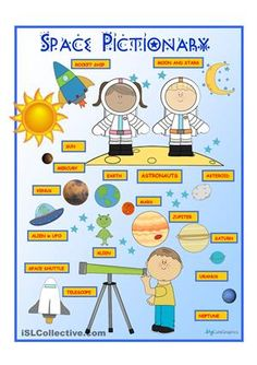 Space Pictionary worksheet - Free ESL printable worksheets made by teachers