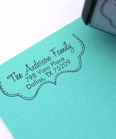 GREAT house warming gift! Party Girl Bracket 2.5'' Personalized Self-Inking Stamp #zulilyfinds