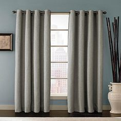 LR & breakfast nook option (multiple colors avail) Reina Grommet Top Window Curtain Panel in White Panel Bed, Breakfast Nook, Window Curtains, Color Splash, Windows, Modern, Colors, Home Decor, Top