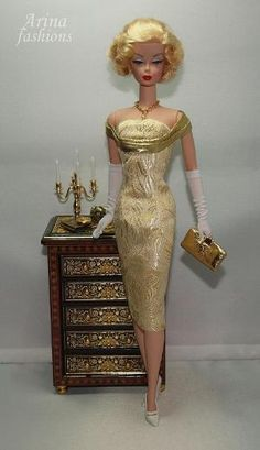 Gold Rush | Arina Fashions | Real fashions for Silkstone Barbie and Fashion Royalty Dolls by bethany