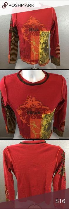 Cirque Du Soleil Men's Long Sleeve pullover shirt Cirque Du Soleil Men's red graphic pullover shirt. In excellent condition. 100% Cotton. Size XL. Cirque Du Soleil Tops Tees - Long Sleeve