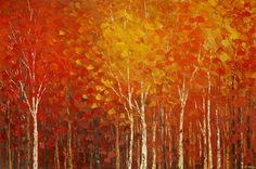 More Perfect Union, fall foliage painting by Tatiana iliina, fine art print of impressionist forest painting Forest Painting, Autumn Painting, Canvas Art, Canvas Prints, Framed Prints, Art Prints For Sale, Fine Art Prints, Art Sites, Beautiful Landscapes