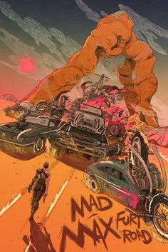 Movie Poster Movement — Mad Max Fury Road by Yin Shian Ng