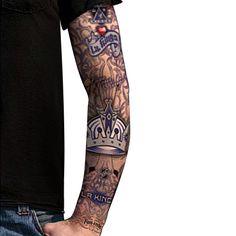 Los Angeles Kings Light Undertone Tattoo Sleeve