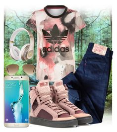 """""""#74"""" by luvefash ❤ liked on Polyvore featuring adidas Originals, Levi's, adidas, Ray-Ban, Samsung and Beats by Dr. Dre"""