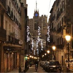 Llego la Navidad a las calles de Madrid.