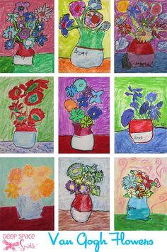 Oil-Pastel-Flowers