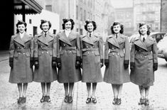 A group of female TTC employees in uniform, c. early 1940s. #vintage #WW2 #1940s #Toronto #Canada