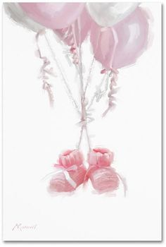 Trademark Global The Macneil Studio 'Booties' Canvas Art, Cute Wallpapers, Wallpaper Backgrounds, Baby Boy Cards, Baby Illustration, Baby Painting, Baby Drawing, White Balloons, Baby Art, Welcome Baby