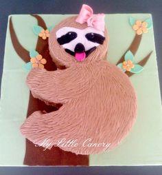 16 Important Life Lessons Sloth Birthday Cake Taught Us Cute Birthday Cakes, 8th Birthday, Birthday Ideas, Baby Sloth, Cute Sloth, Beanie Boo Birthdays, Sloth Cakes, Jungle Cake, Cake Templates