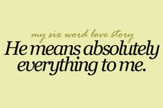 Six Word Stories ... ❤