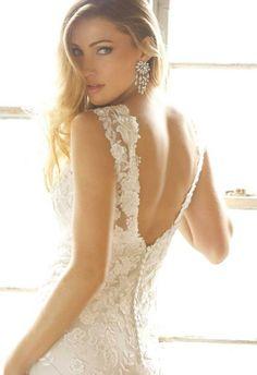 Lace Bridal Gown White Ivory Mermaid Wedding dress Custom Size 6 8 10 12 14 16++