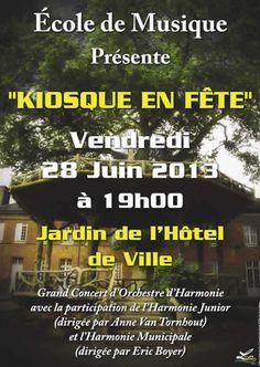 Kiosque en fête avec la participation de l'école de musique de #Louviers