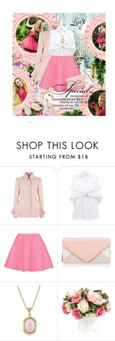 """""""she is spring"""" by len-chica ❤ liked on Polyvore featuring Ted Baker, Giambattista Valli, Giles, Forever New, ESCADA, 1928, Ethan Allen and Jimmy Choo"""