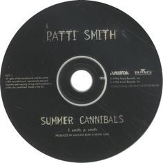 """For Sale - Patti Smith Summer Cannibals UK Promo  CD single (CD5 / 5"""") - See this and 250,000 other rare & vintage vinyl records, singles, LPs & CDs at http://eil.com"""