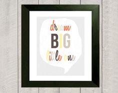 Nursery Art Print  Dream Big Little One  by DeliveredByDanielle, $15.00