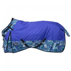 Tough-1 1200D Waterproof Poly Snuggit Turnout Blanket in Paisley Shimmer Print