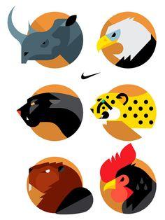 NIKE Animal Badges