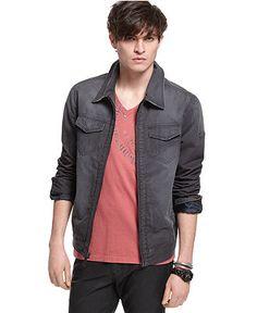 Guess Jacket, Basic Chino - Mens Coats & Jackets - Macy's