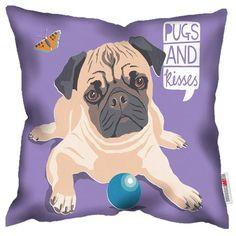 Paperlollipop Pugs & Kisses Cushion