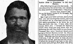 Pictured: The freed slave behind moving letter to old master after he was asked back to work on farm | Mail Online