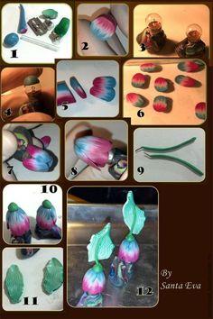Тюльпаны из полимерной глины - Ярмарка Мастеров - ручная работа, handmade