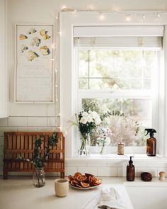 The sun came out for a few minutes while all the kids were napping or on quiet time and I saw it shining into the kitchen and for a moment…
