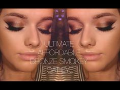 QUICK, EASY, AFFORDABLE - Ultimate Bronze Smokey Cat Eye | Make Up Tutorial - YouTube