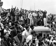 Manifestación en el Zócalo - 1958
