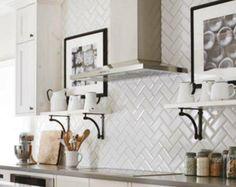 Us Ceramics Ice White Beveled Subway Tile In Glossy Subway Tiles