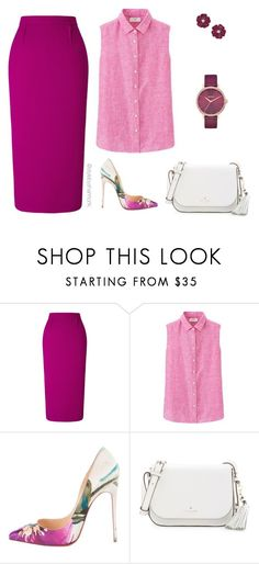 pink & purple by stylebyshannonk on Polyvore featuring Uniqlo, Roland Mouret, Christian Louboutin, Kate Spade and Nixon