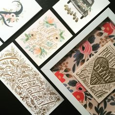 Wedding gift cards, place cards and table numbers designed by Anna Bond for Rifle Paper Co.  Available at Northlight