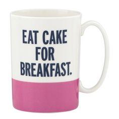 YES! kate spade new york Eat Cake for Breakfast Mug