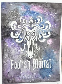 Haunted Mansion Fan Art - Foolish Mortal - Disney Inspired Hand Painted Watercolor by Violet Knight Designs.