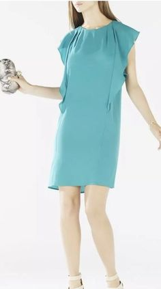 09cc7156183 Details about NWT BCBG MAXAZRIA SUSI FLUTTER SLEEVE SHIFT DRESS Size XXS