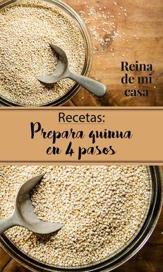 Aprende a preparar quinua en 4 pasos. Encuentra los trucos para que te quede deliciosa y una receta de quinua con pollo a la peruana. Deliciosa!