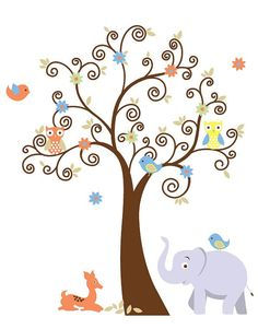 wall tree decal