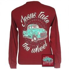 Girlie Girl Originals Jesus Take the Wheel Truck Christian Long Sleeve T-Shirt