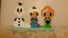 Perler BeadFrozen w/ Stand by OJsBeadSprites on Etsy