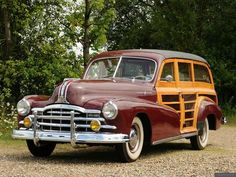 """A 1948 """"Woody"""" Station Wagon, trimmed with real wood"""