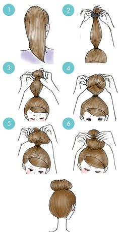 Simple daily hairstyles step by step for girls Gym route . - Simple daily hairstyles step by step for girls Gym route - Easy Everyday Hairstyles, Cute Simple Hairstyles, Daily Hairstyles, Girl Hairstyles, School Hairstyles, Medium Hair Styles, Curly Hair Styles, Hair Styles Steps, Hair Buns