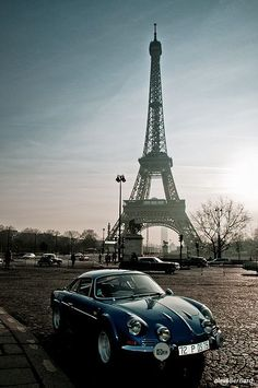 Renault Alpine A110 à Paris - La France.