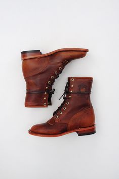 "Chippewa Women's 8"" Lacer Boots based on women's boots from the late 1800s. Love love love. #bootlove #shoes"