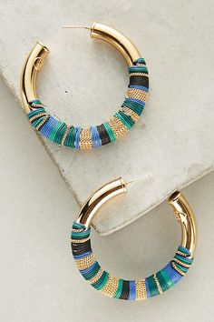 Slide View: 1: Acreole Hoop Earrings